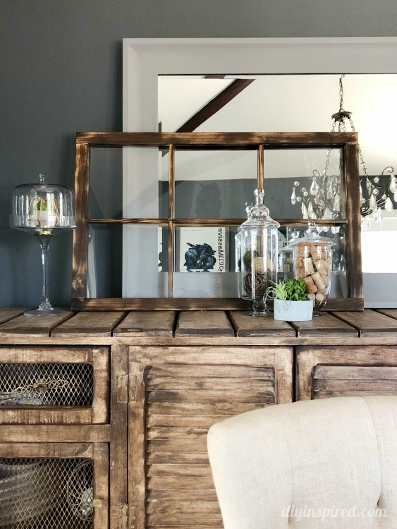 How to Make and Patina a Farmhouse Window for Your Home Decor