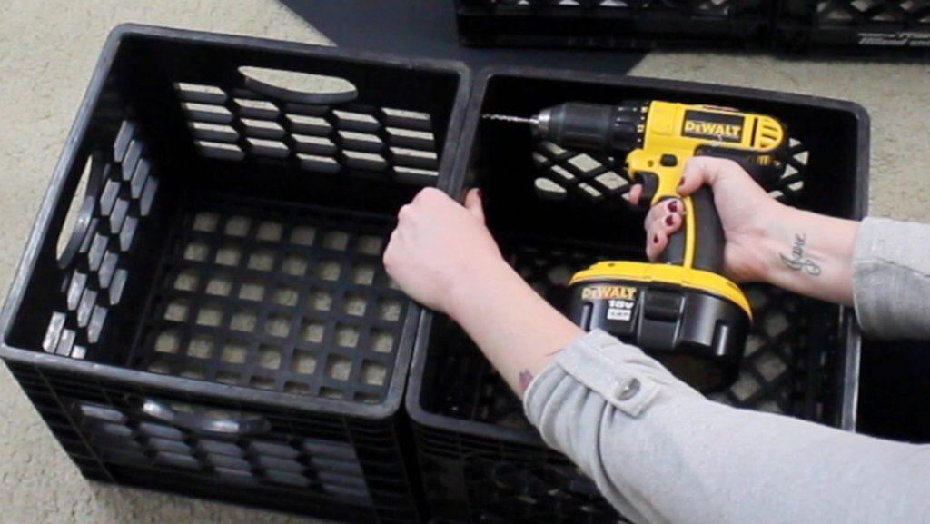 Easy DIY Shoe Storage Idea with Milk Crates