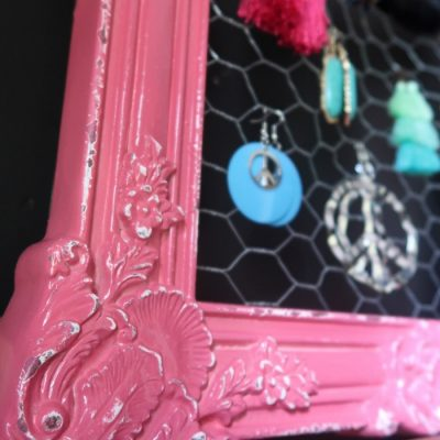 Easy Upcycled Earring Holder