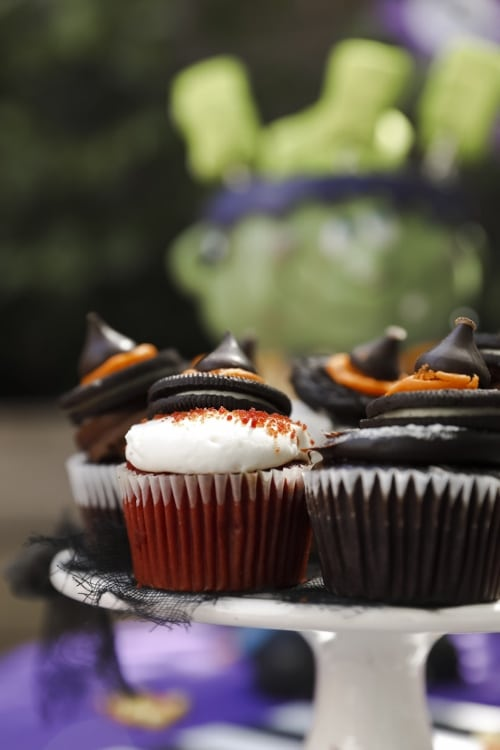 Halloween Cupcakes - Witches Hats
