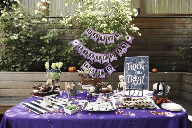 Halloween Desserts Table