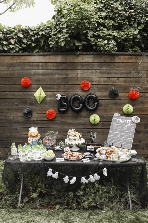 Halloween Party Snacks Table