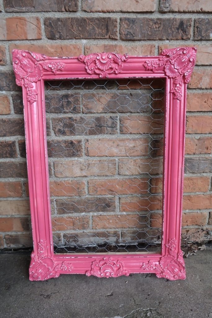 Pink Chicken Wire Frame