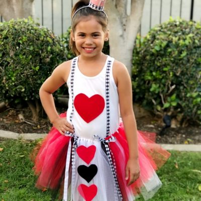 DIY Queen of Hearts Costume for Kids