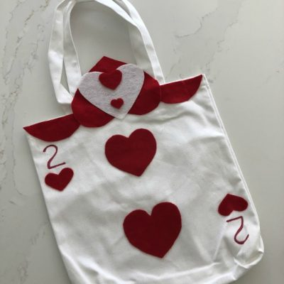 Queen of Hearts Guards Trick or Treat Bag