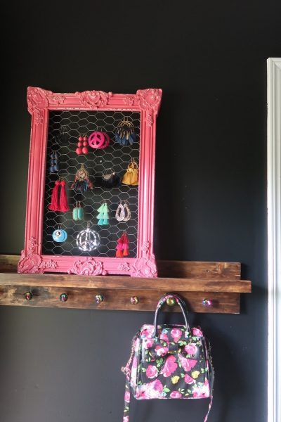 Repurposed Chicken Wire Earring Holder