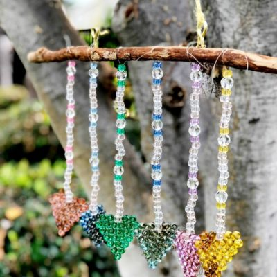 DIY Torched Bead Sun Catcher