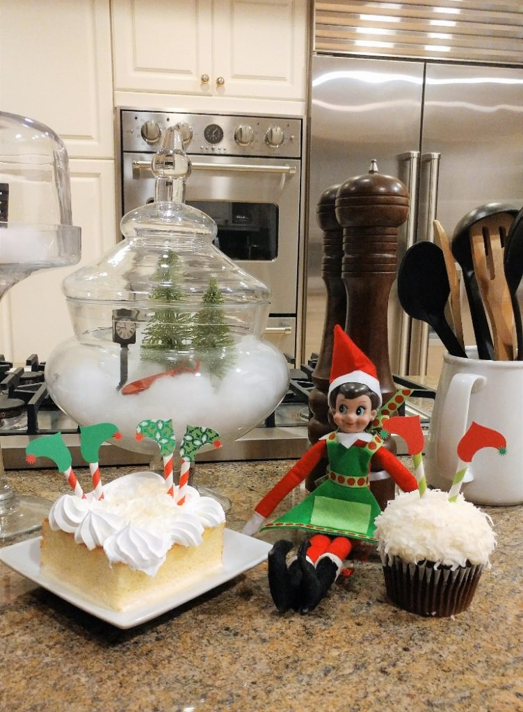 Elf on the Shelf First Day Idea with Treats