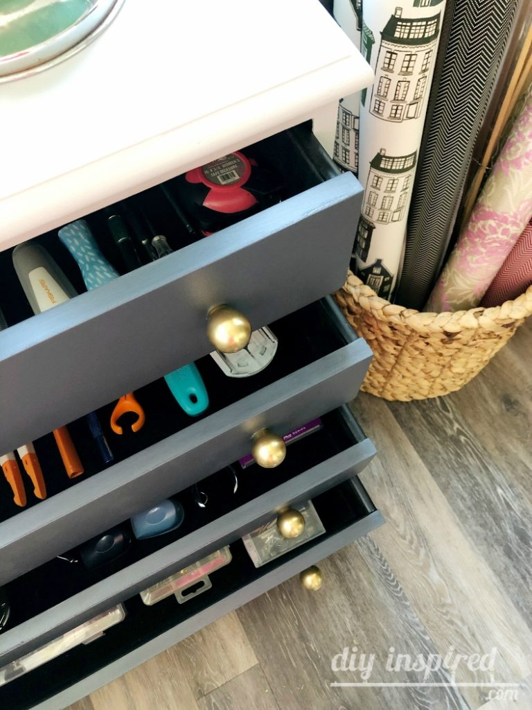 Craft Storage and Organization DIY Inspired