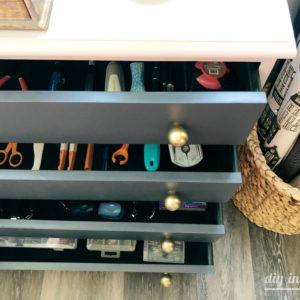 Dresser for Craft Storage