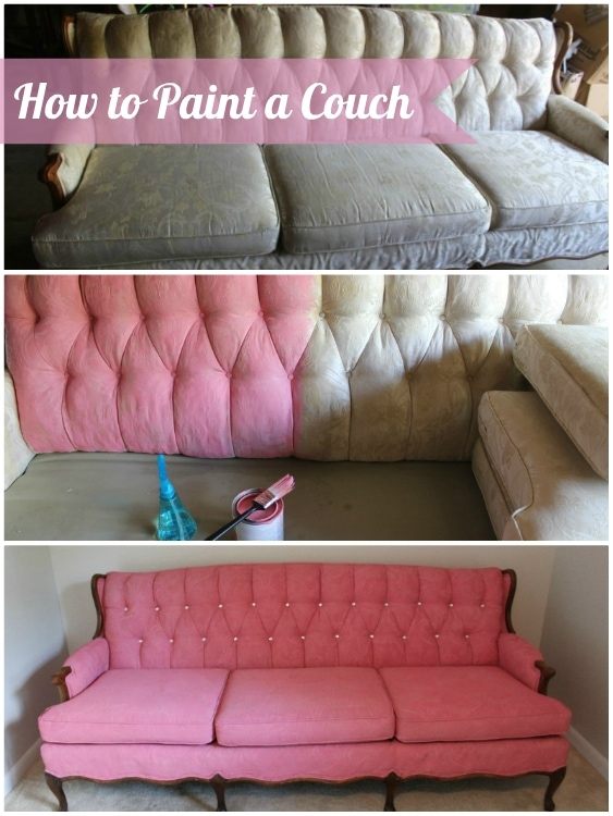 How to Paint a Couch - DIY Inspired