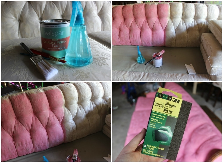 How to Paint a Couch and Dye Fabric