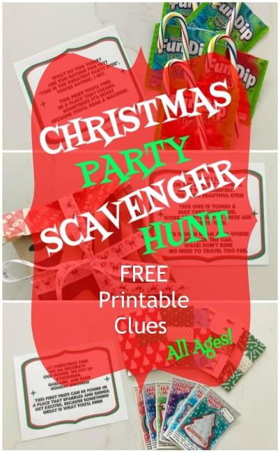 Christmas Party Scavenger Hunt for All Ages