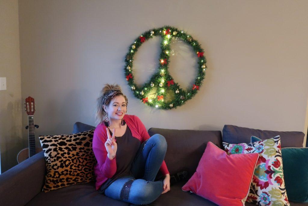 DIY Peace Sign Wreath with Laci Jane DIY