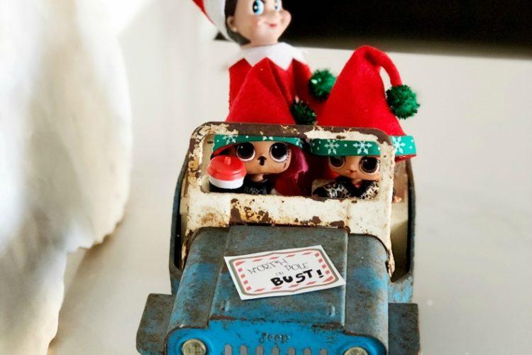 Jeeping Elf on the Shelf