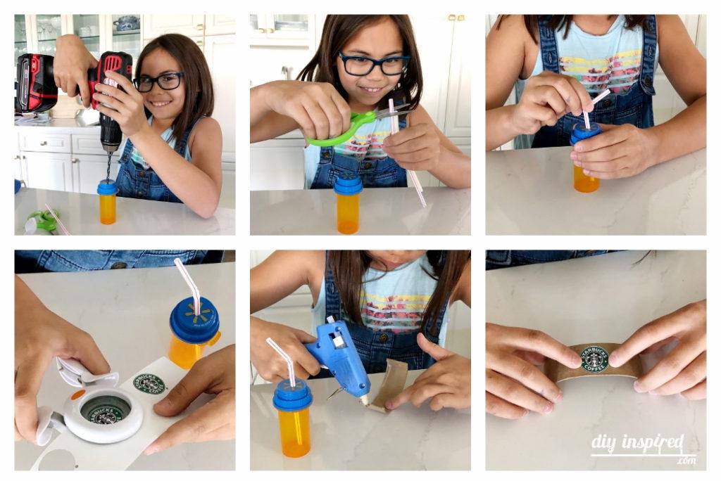 DIY Doll Starbucks Drinks Instructions
