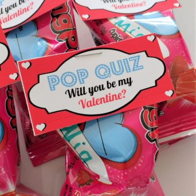Ring Pop Valentine Printables