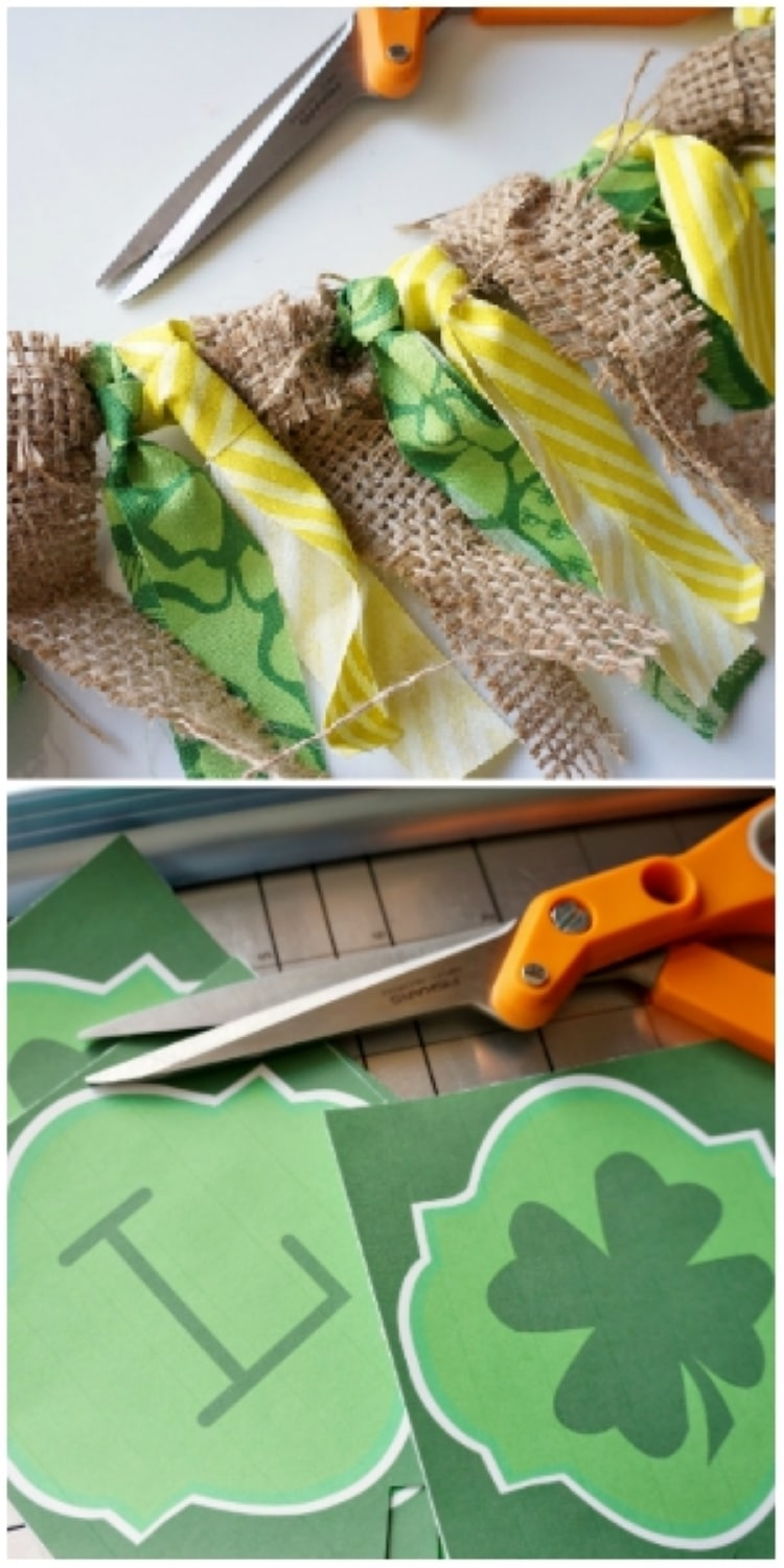 Printable Lucky Banner for St. Patrick's Day - DIY Inspired