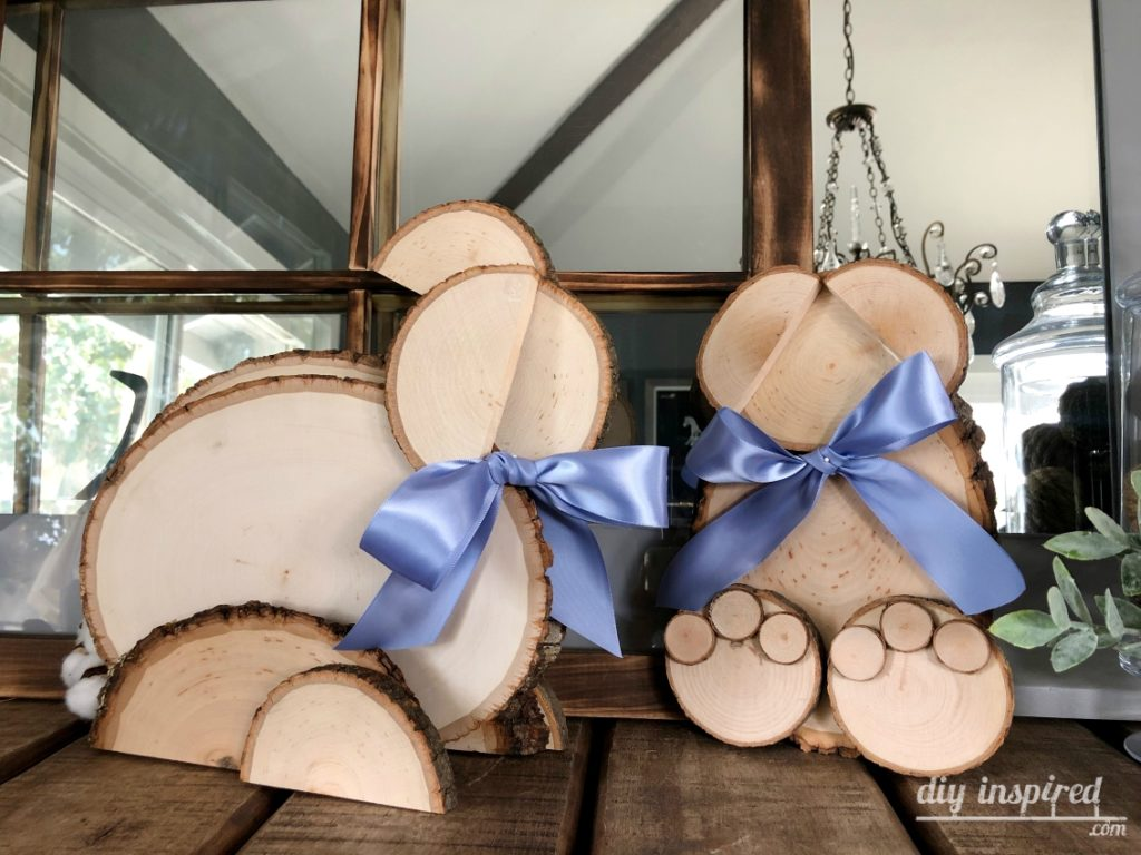 DIY Wood Slice Bunnies