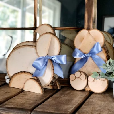 DIY Wooden Easter Bunnies