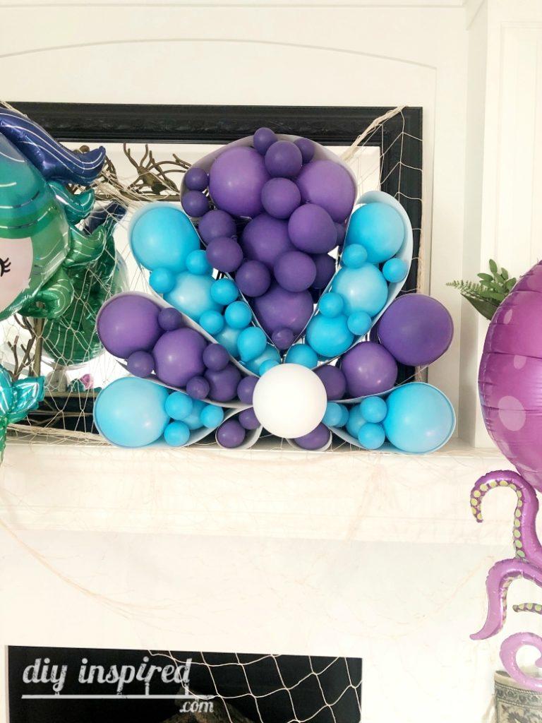 Giant Seashell Balloon Art for Party
