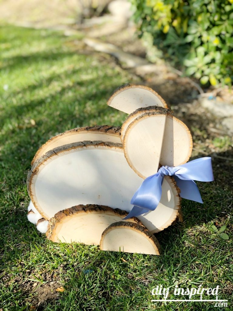 How to Make a Bunny Out of Wood Slices