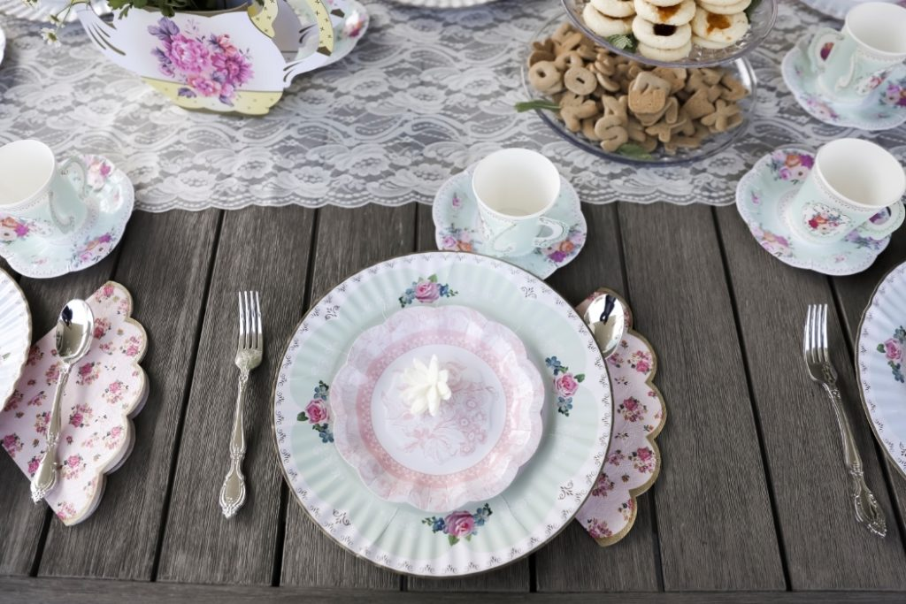 Paper Plates for a Tea Party