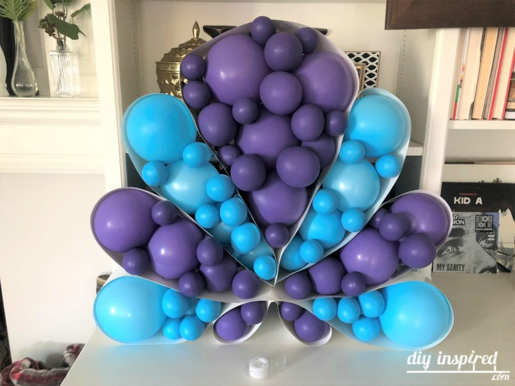 Seashell Balloon for a Little Mermaid Party