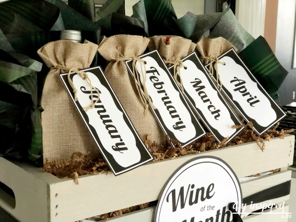 Wine of the Month Printable Tags