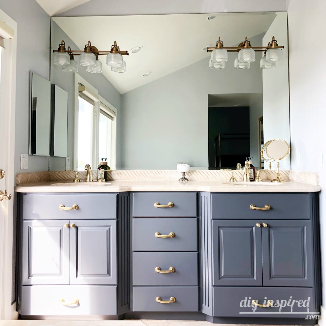 How To Paint A Bathroom Vanity Diy Inspired