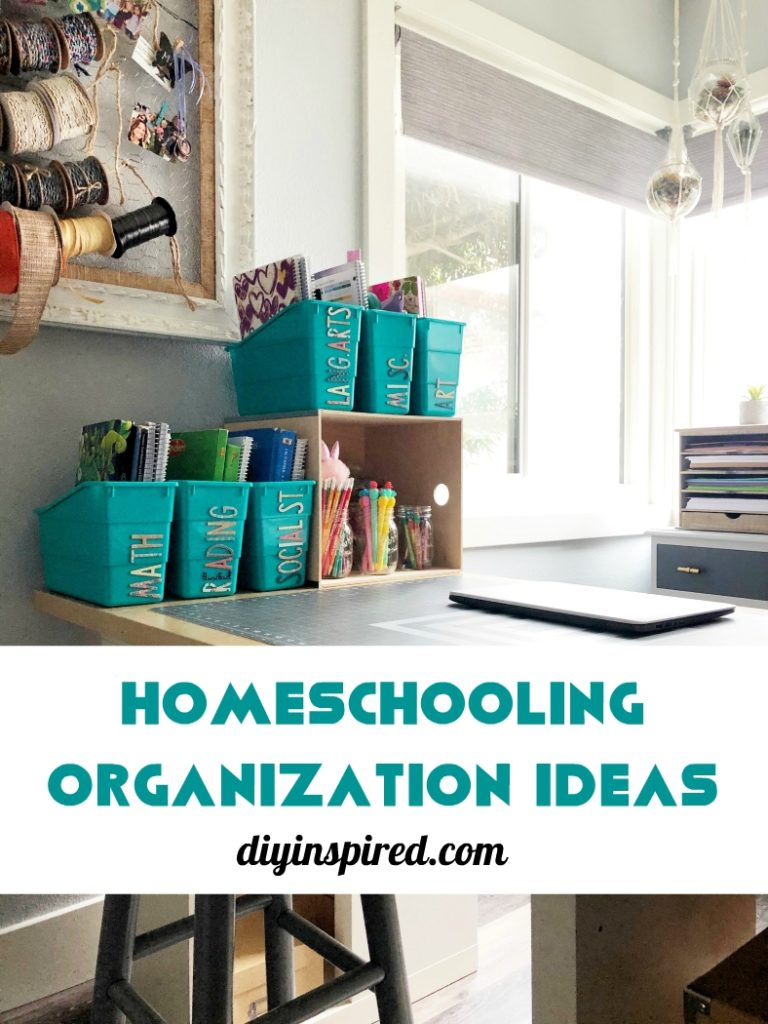 Homework Station Organization Ideas