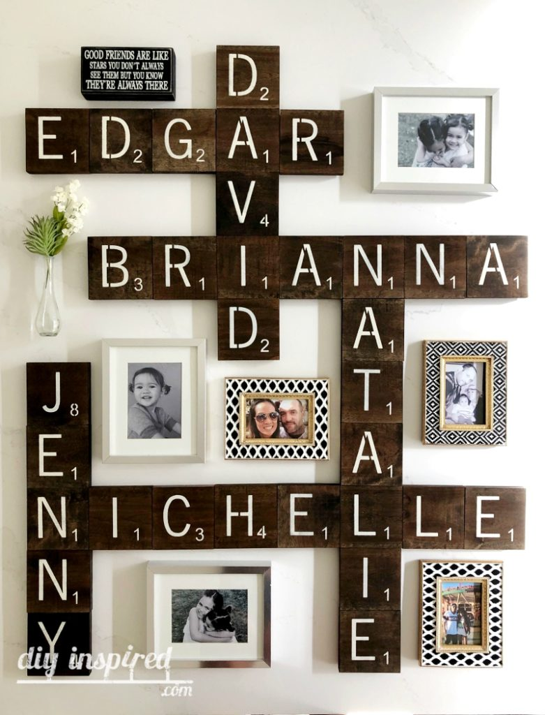 DIY Scrabble Tile Gallery Wall