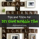 DIY Scrabble Tile Gallery Wall - Tips and Tricks