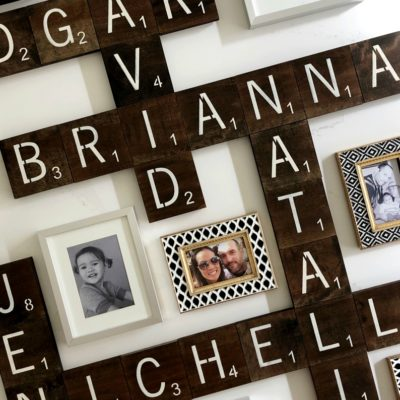 DIY Scrabble Tile Wall Art