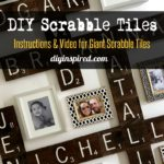 Scrabble Tile Wall Art - DIY Inspired Pin
