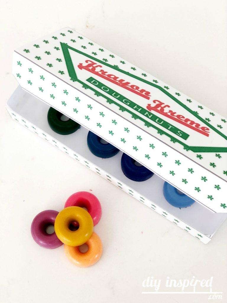 DIY Doughnut Crayons with Free Printable Box