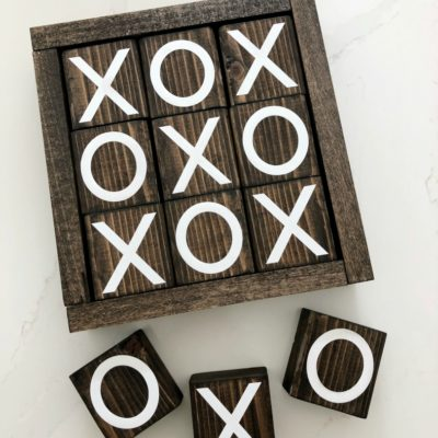 DIY Wooden Tic Tac Toe Board Game