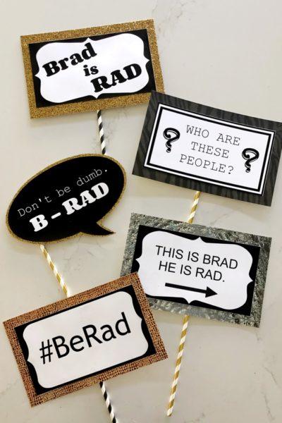 Brad Photo Booth Prop Printables