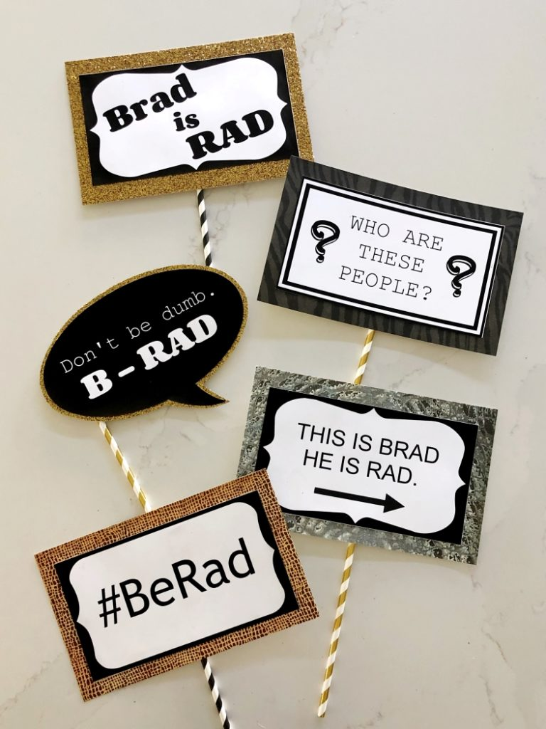 Brad Photo Booth Prop Printables