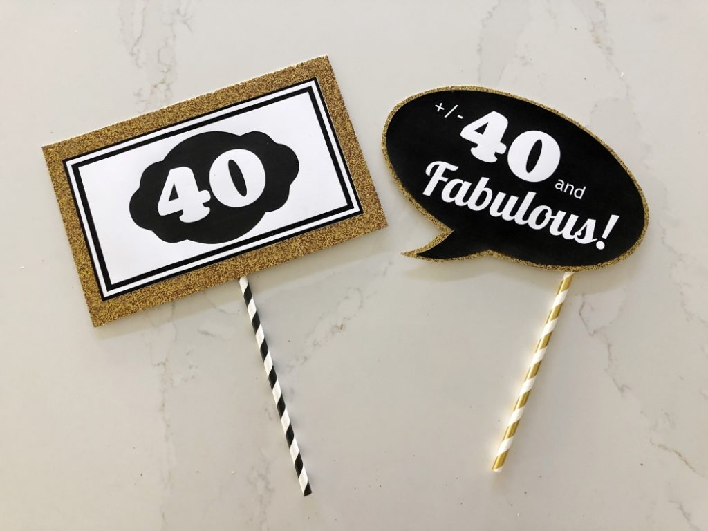 Free 40th Birthday Photo Booth Props