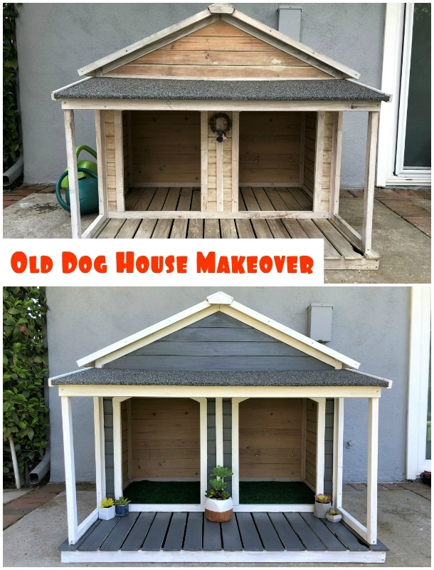 Old Double Dog House Makeover - DIY Inspired