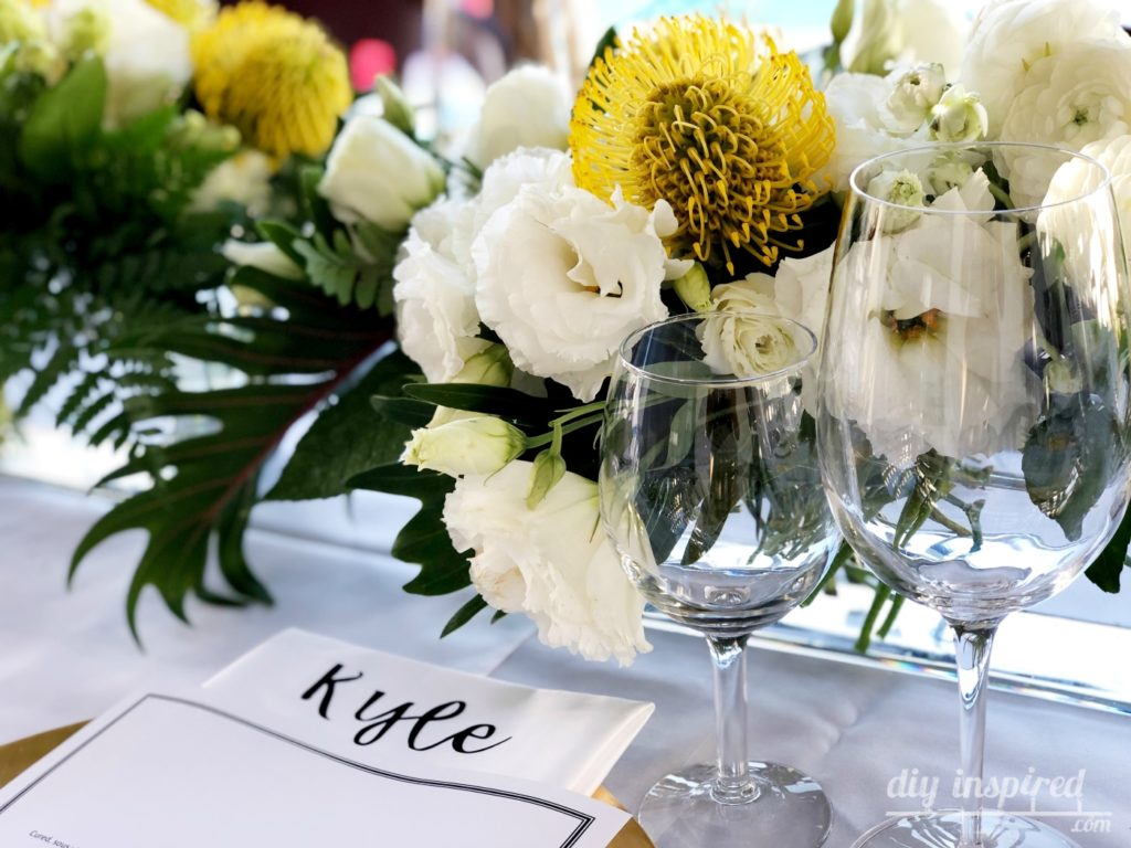 Outdoor Dinner Party Centerpieces
