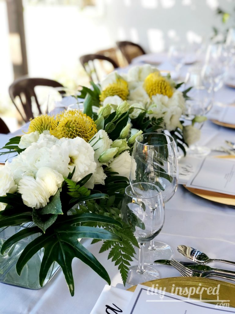 Outdoor Dinner Party Table Decorations