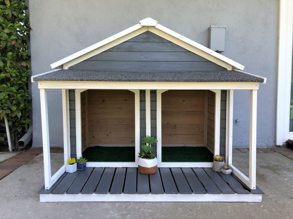 Painted Dog House Makeover