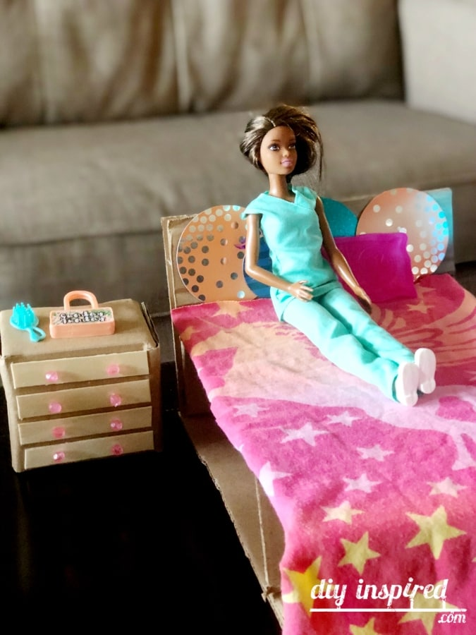 DIY Barbie Doll Bed