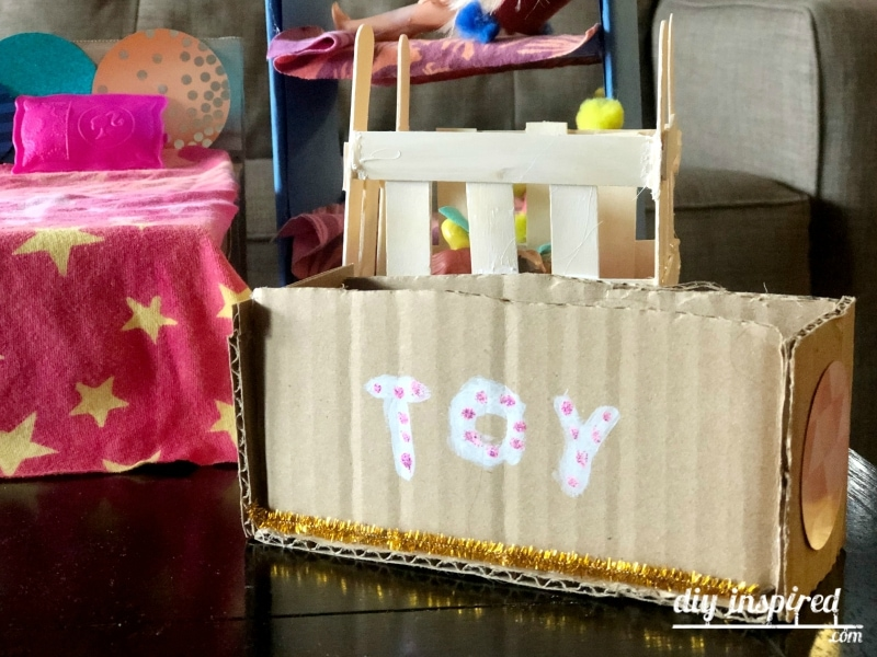 DIY Doll Toy Chest from Cardboard