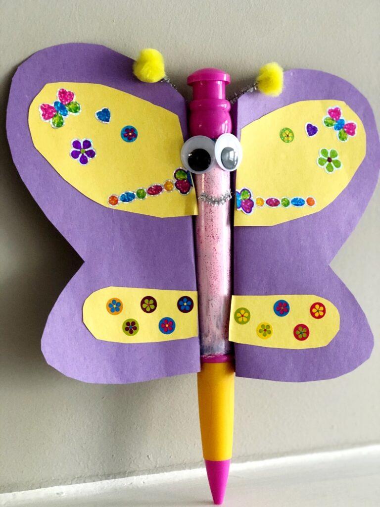 DIY Giant Butterfly Pen Kids Craft