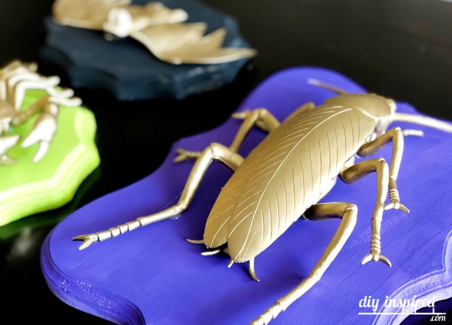 DIY Gold Insect Taxidermy for Halloween
