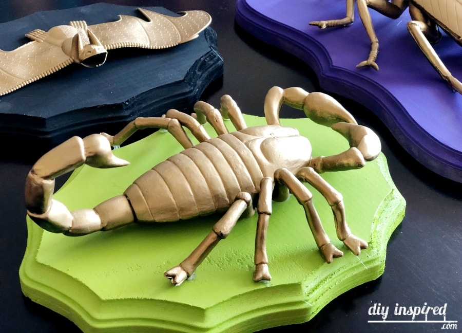 DIY Gold Scorpion Taxidermy for Halloween