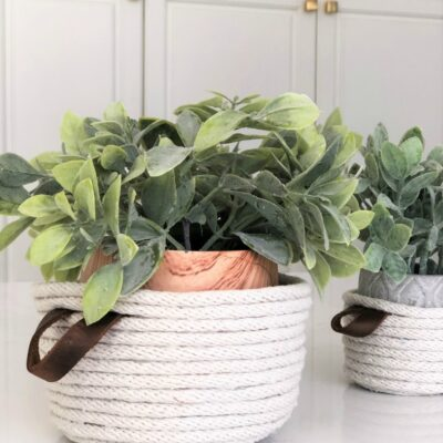 Easy DIY Rope Baskets